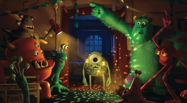 """""""MONSTERS UNIVERSITY""""  (L-R) MIKE and SULLEY amongst other monsters.  ©2012 Disney/Pixar. All Rights Reserved."""